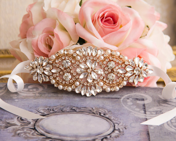 Rose Gold Bridal Jewelry - Rose Gold Bridal Belt
