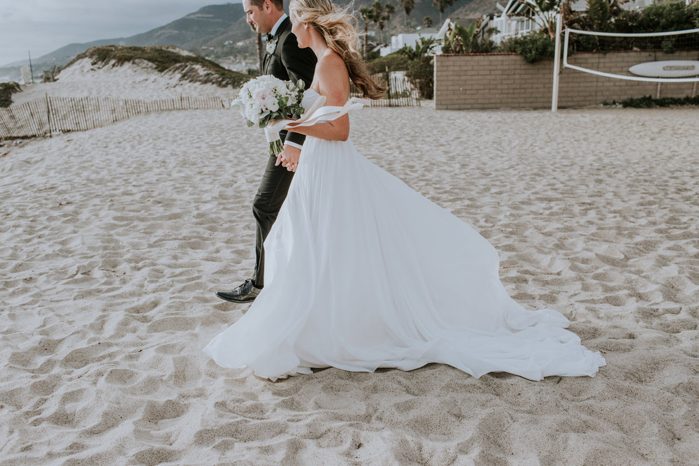 A Blush + White Malibu West Beach Club Wedding by Rachel Wakefield Photography