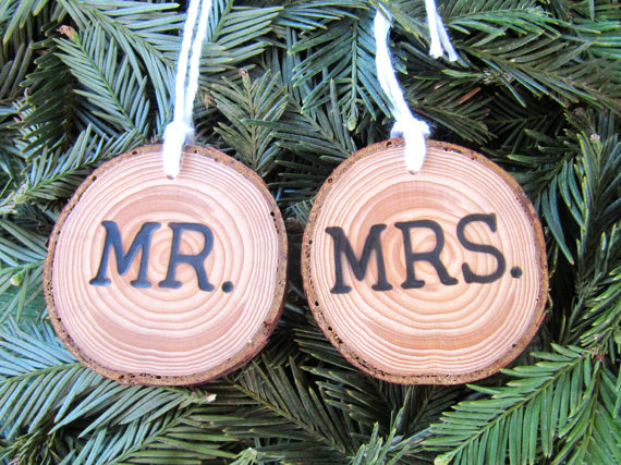 Newlywed + Newy Engaged Christmas Tree Ornaments
