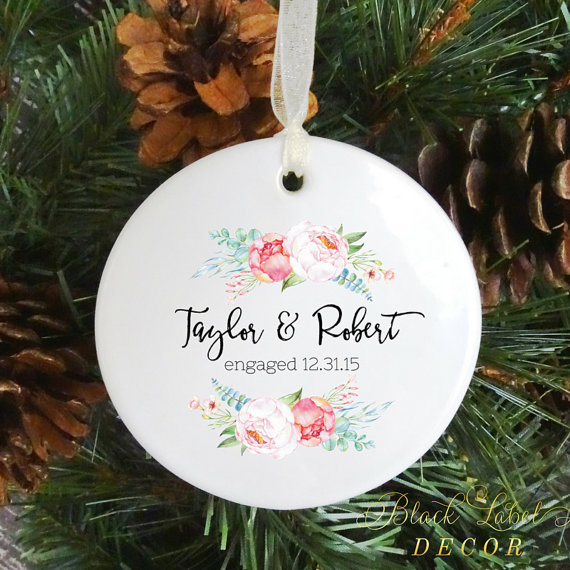 Newlywed + Newly Engaged Christmas Ornaments