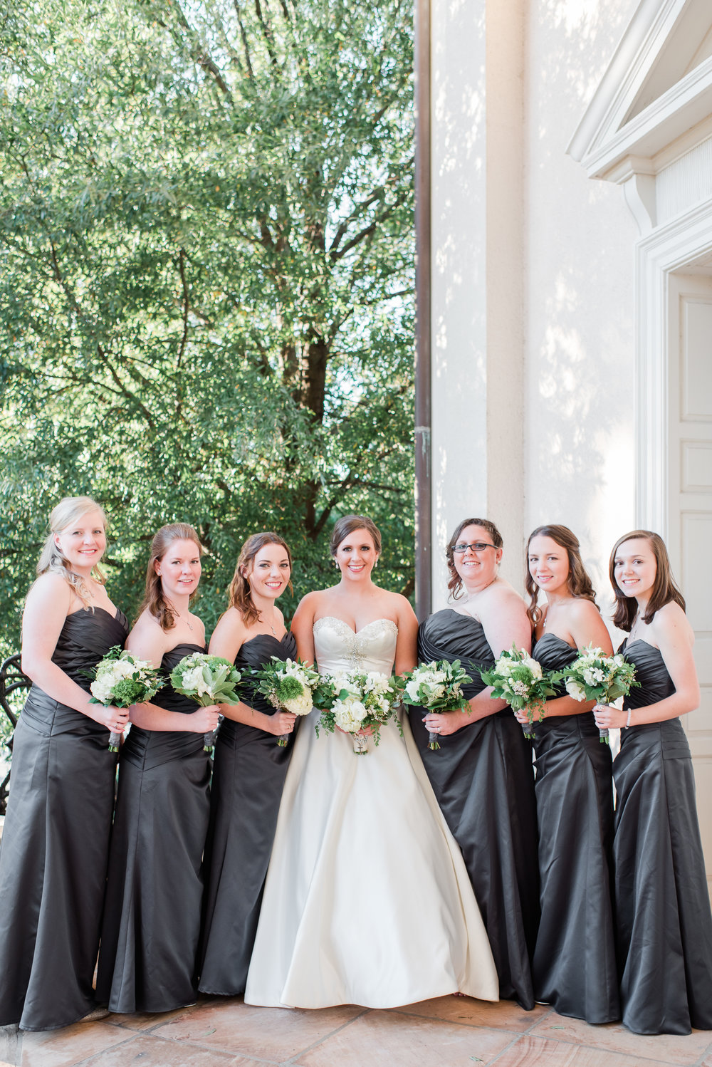 Charcoal Bridesmaid Dresses - A Black Tie, South Carolina Commerce Club Wedding