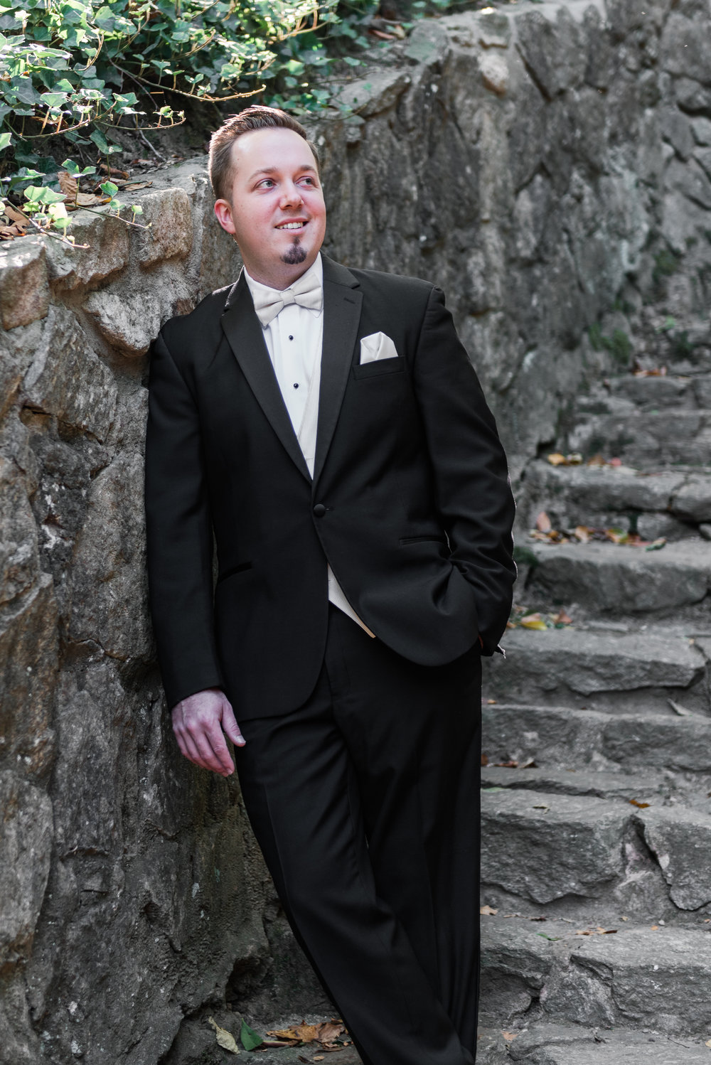 Black and White Tux for Grooms - A Black Tie, South Carolina Commerce Club Wedding