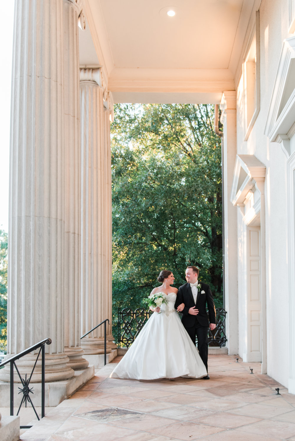 Bride and Groom Portrait - A Black Tie, South Carolina Commerce Club Wedding