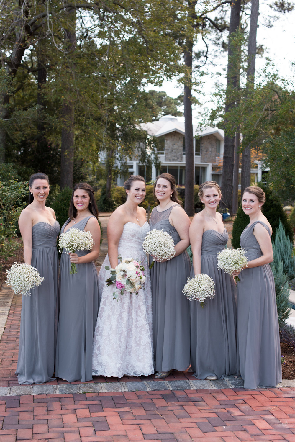 Charcoal Bridesmaid Dresses - Travel Themed Wedding - Caitlin Gerres Photography