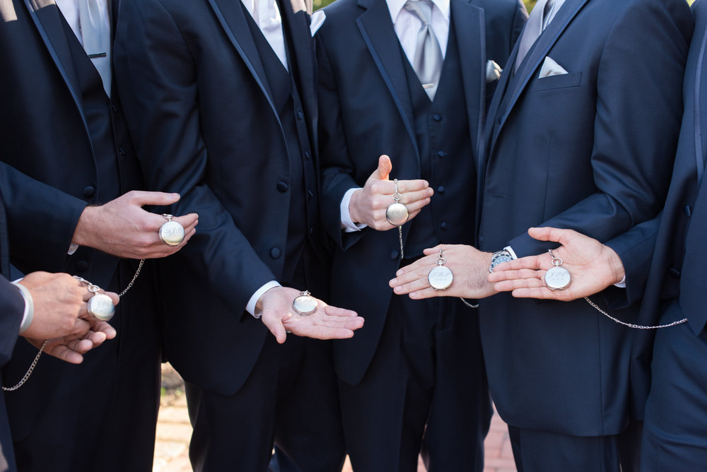 Groomsman Gift - Engraved Pocket Watch - Travel Themed Wedding - Caitlin Gerres Photography