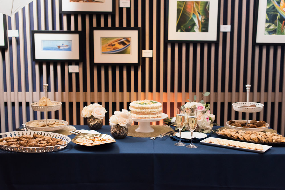 Dessert Buffet -Travel Themed Wedding - Caitlin Gerres Photography