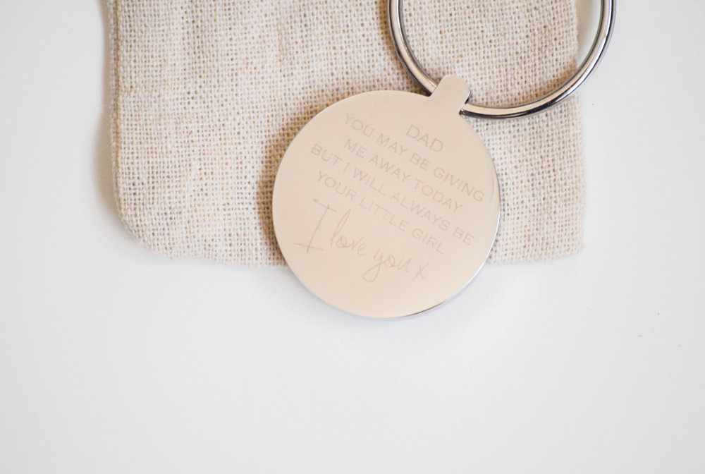 Father of the Bride Gift Idea Key Chain by Oh So Cherished