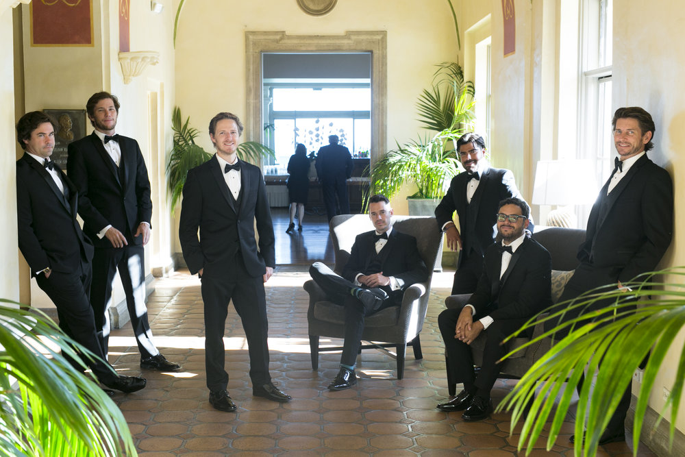Groomsman Photos- A Romantic Bel Air Bay Club Ocean-View Wedding - Southern California Wedding - Kevin Dinh Photography