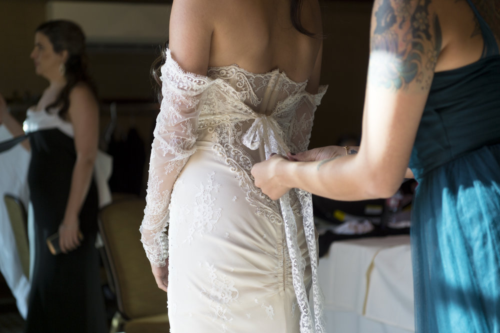 Wedding Dress Sleeve Add On - A Romantic Bel Air Bay Club Ocean-View Wedding - Southern California Wedding - Kevin Dinh Photography