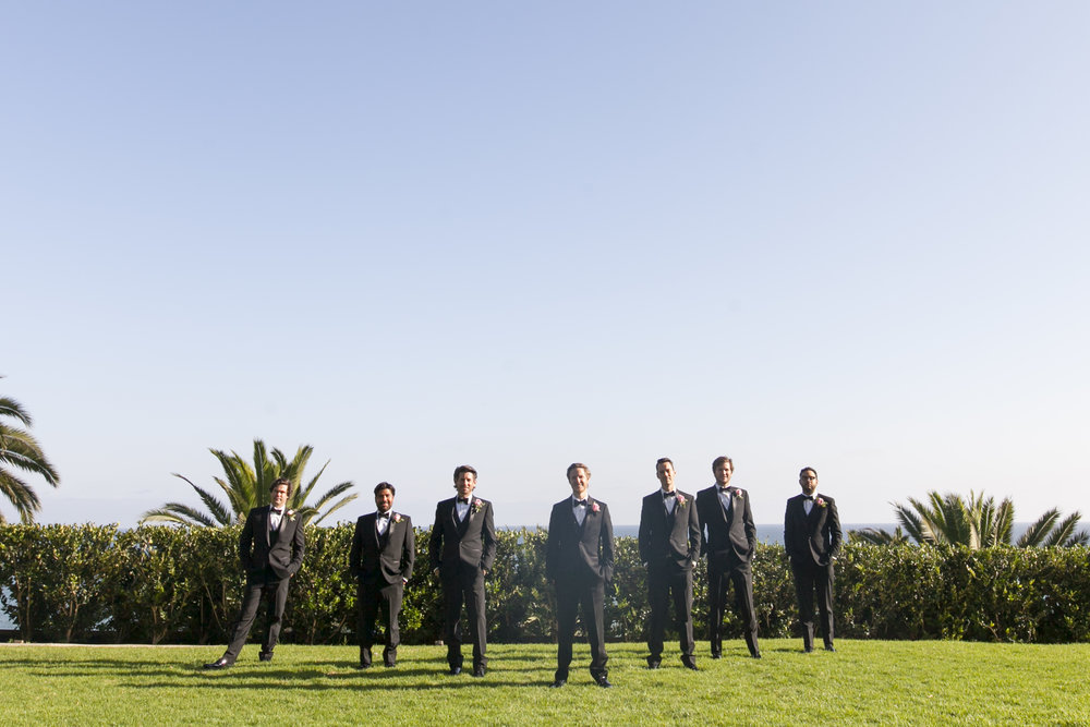 Groomsman Photos - A Romantic Bel Air Bay Club Ocean-View Wedding - Southern California Wedding - Kevin Dinh Photography