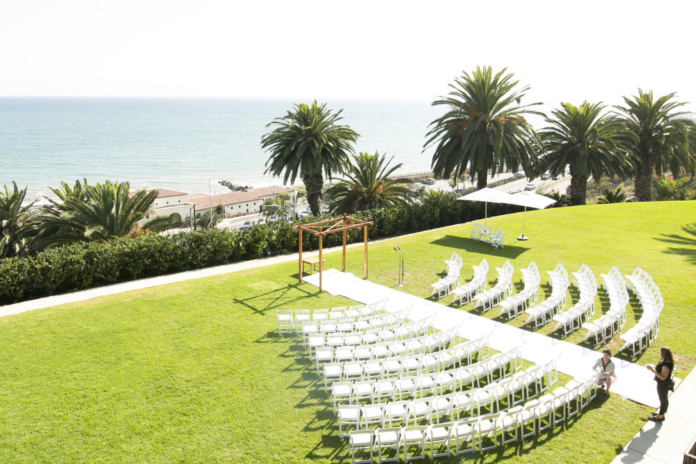 Wedding Ceremony - A Romantic Bel Air Bay Club Ocean-View Wedding - Southern California Wedding - Kevin Dinh Photography