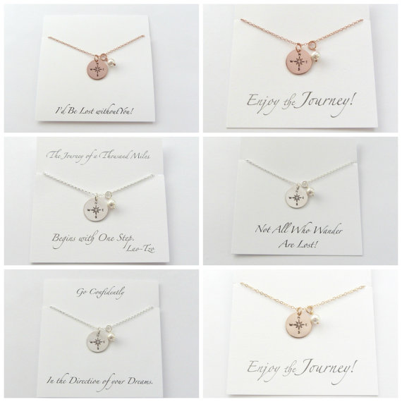 bridal by jewelry bridesmaid necklace ideas compass custom the boutique proposal blog coordinates gift