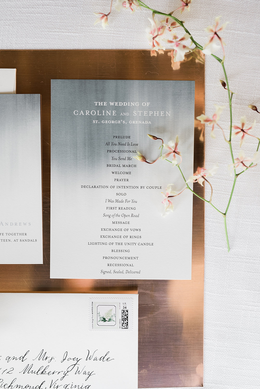 Beach Wedding Invitations - Modern Beach Chic Wedding Ceremony Inspiration