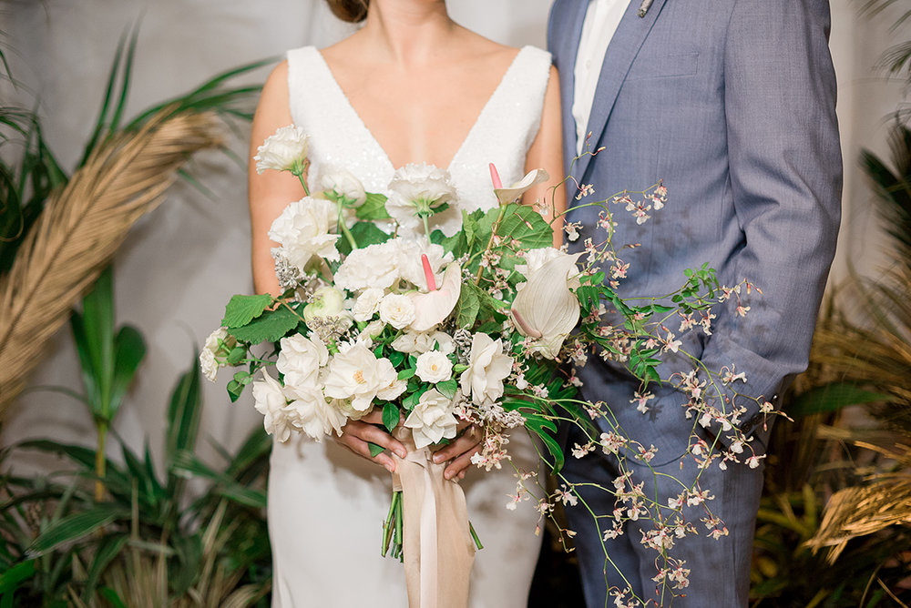 Beach Wedding Bouquet Beach Wedding Dress - Modern Beach Chic Wedding Ceremony Inspiration
