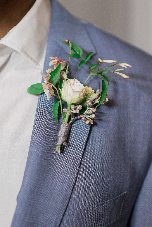 Beach Wedding Boutonniere - Beach Wedding Dress - Modern Beach Chic Wedding Ceremony Inspiration