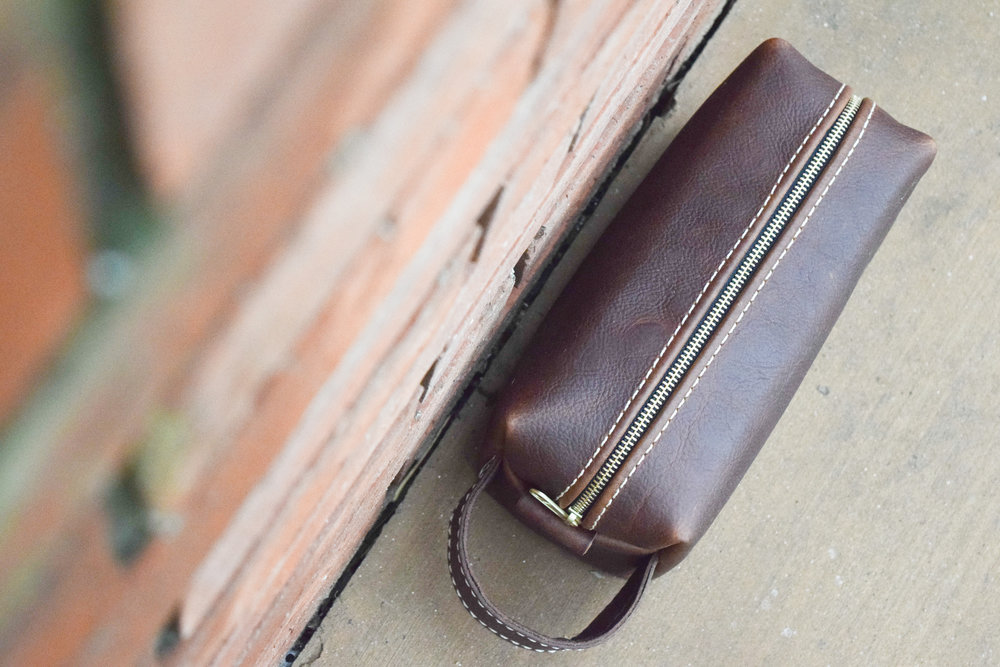 Practical Groomsman Gift Idea - Men's Leather Toiletry Bag - Lifetime Leather Co
