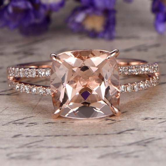 Rose Gold Engagement Ring - Non Diamond Engagement Rings - Engagement Rings Without Diamonds