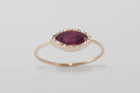 Ruby Engagement Ring - Non Diamond Engagement Rings - Engagement Rings Without Diamonds