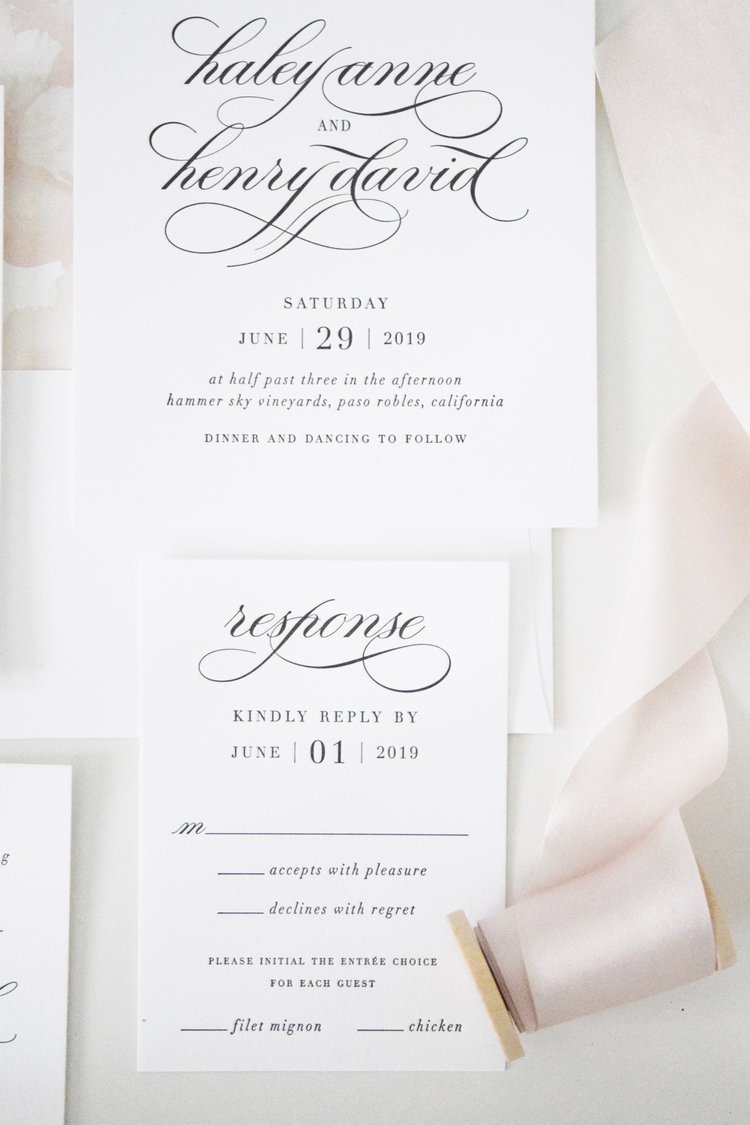 white blush wedding invitations shine wedding invitations - Blush Wedding Invitations