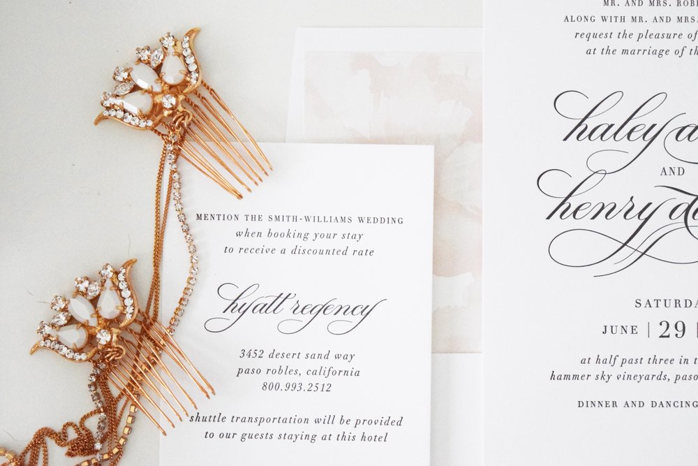 The Bridal Boutique | White + Blush Wedding Invitations — The ...
