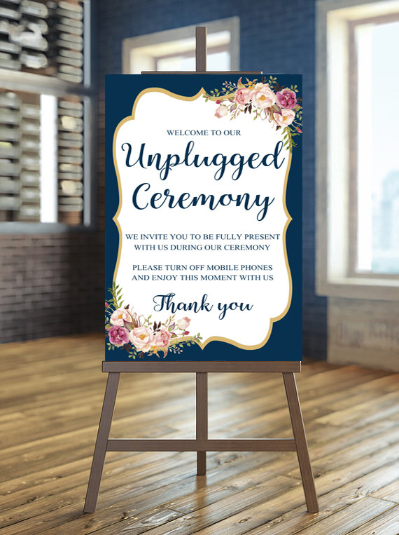 Floral Wedding Welcome Sign - Floral Wedding Details