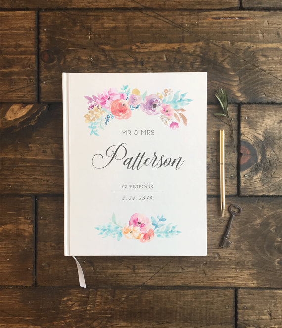 Floral Wedding Guest Book -Floral Wedding Details