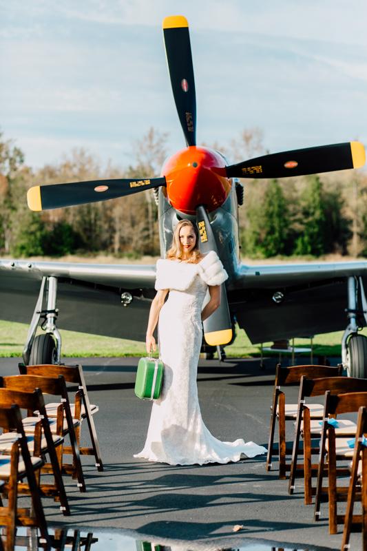 Vintage Aviation Styled Wedding Shoot - Katheryn Moran Photography