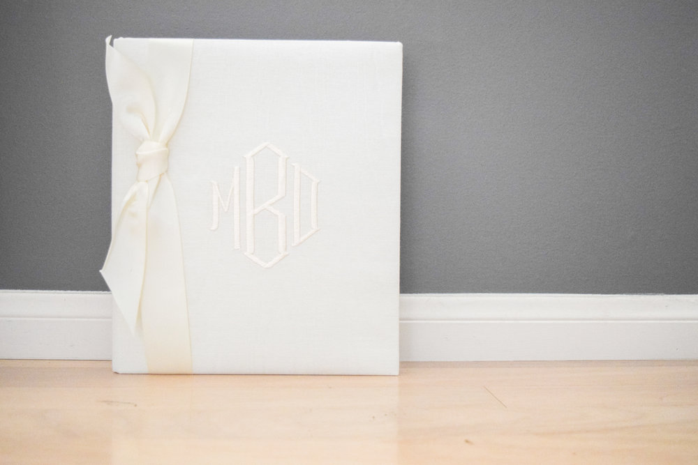 The Bridal Boutique | Monogrammed Wedding Guest Books by Way Cool Designs