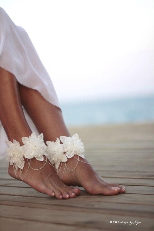 Barefoot Beach Wedding Shoes - Beach Bridal Shoes