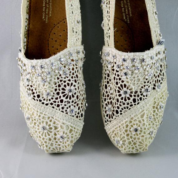 Crystal White Wedding TOMS