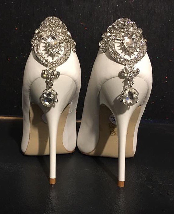 Ivory Crystal Heeled Bridal Heels