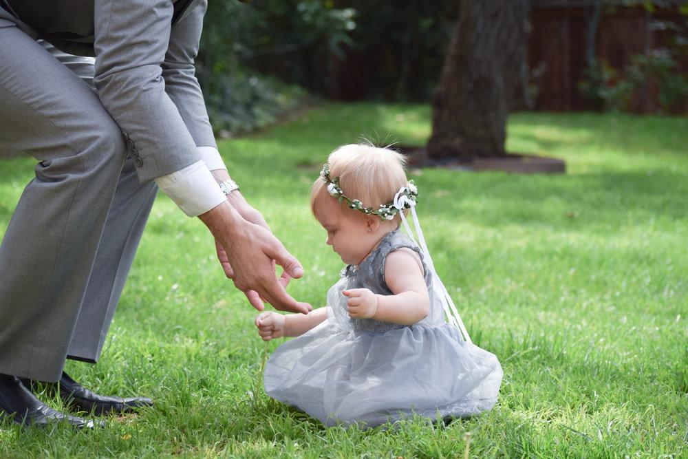 Grey lace + Chiffon Flower Girl Dress - The Hair Bow Company