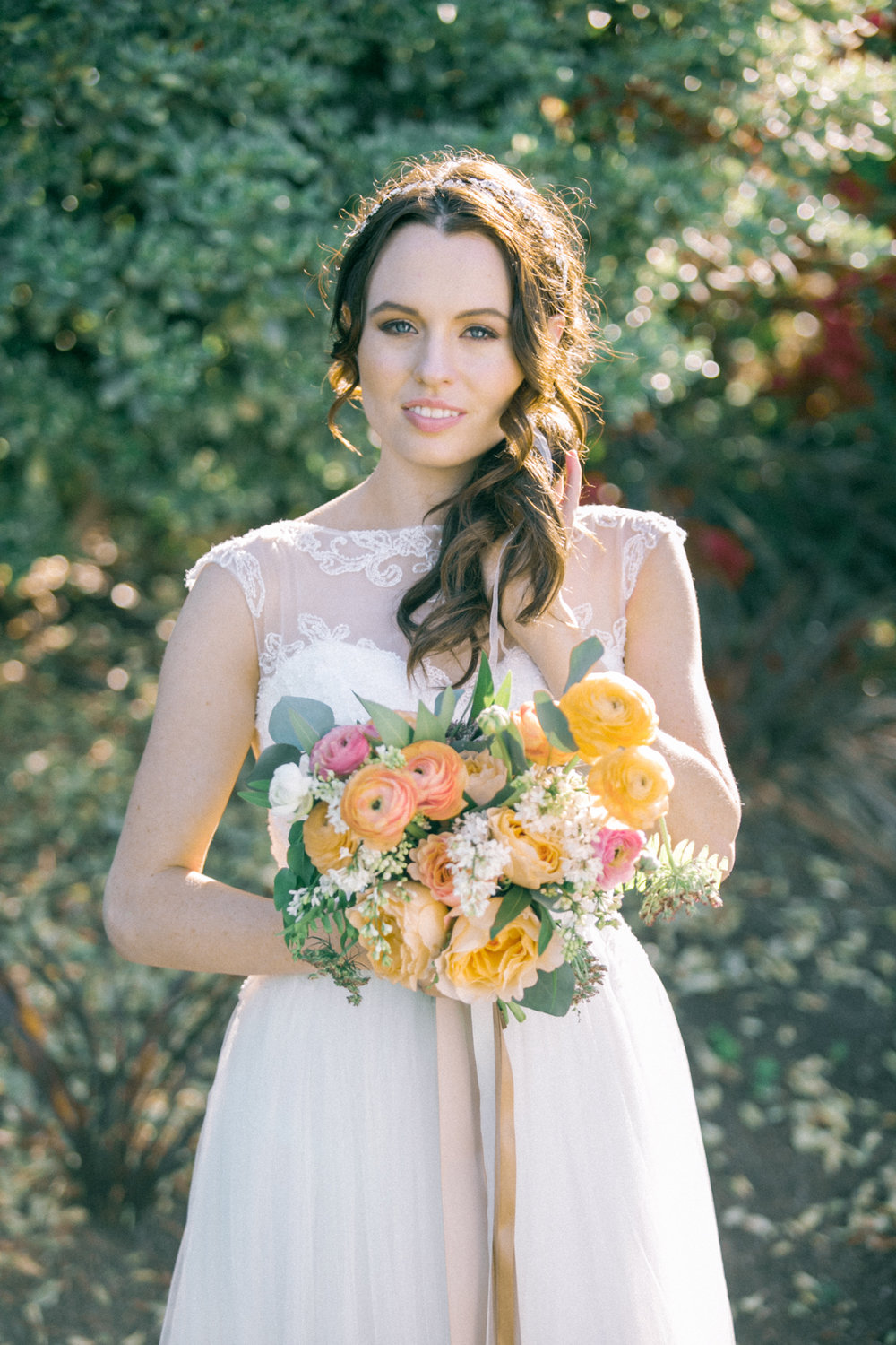 Romantic Spring Outdoor Skylinks Golf Course Wedding