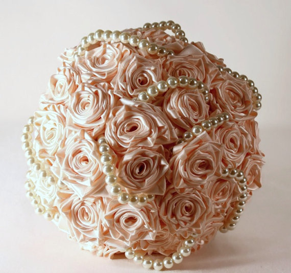 Silk Bridal Bouquet - Light Pink Silk Bridal Bouquet
