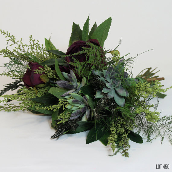 Silk Bridal Bouquet - Green Silk Bridal Bouquet