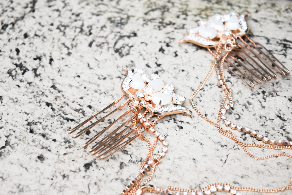 The Bridal Boutique | Rose Gold Bridal Headpiece - TheLadyBride - Rose Gold Bridal Jewelry