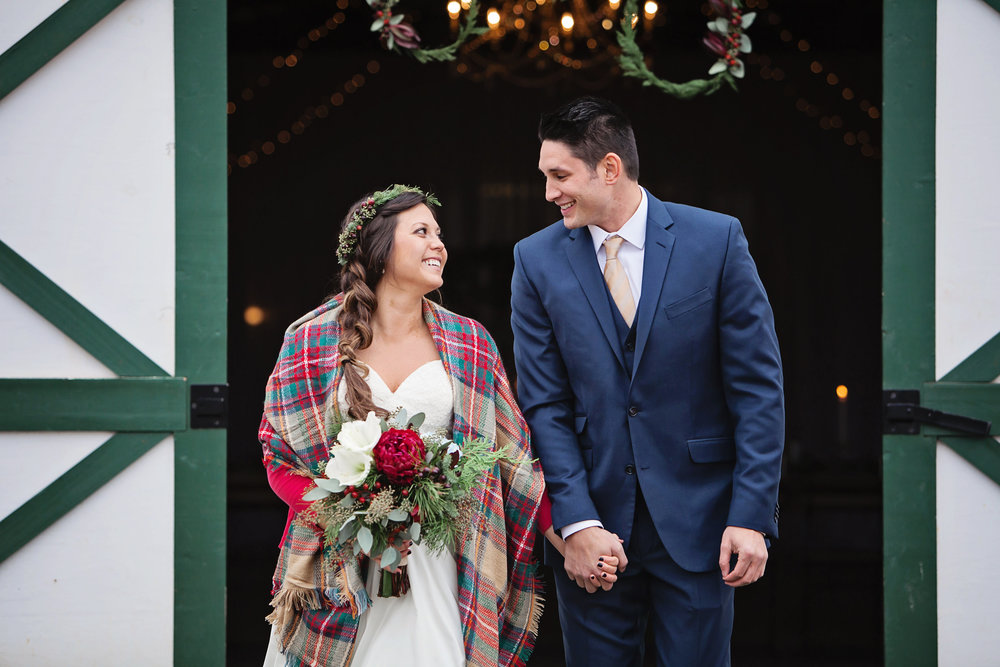 A Cozy Winter Farm Wedding - Megan White Photography - 13 Cedar Events