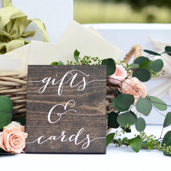 Wooden Wedding Gift Sign