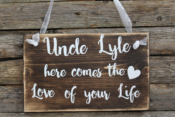 Wooden Ring Bearer Sign