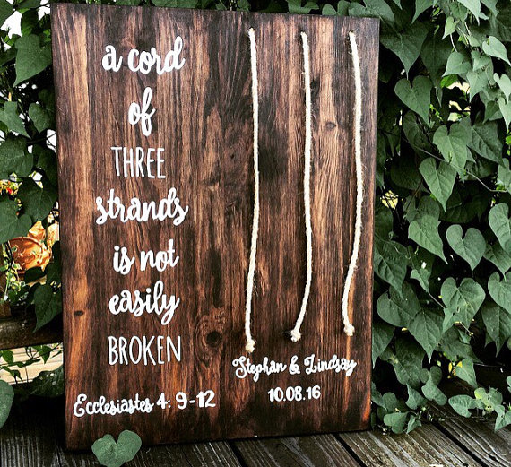 Tie the Knot Wooden Wedding Sign