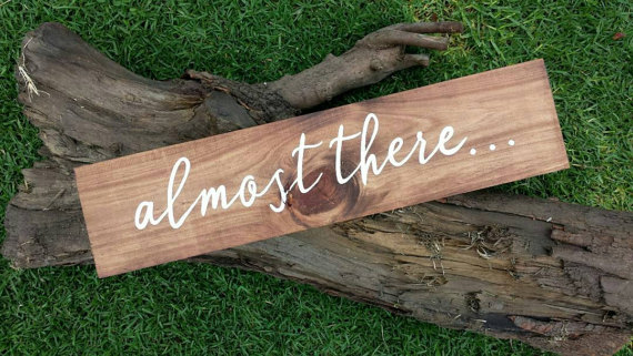 Wooden Ceremony Wedding Sign