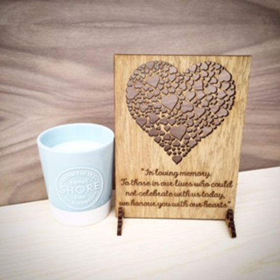 In loving memory - Wooden Wedding Sign