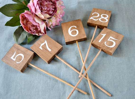 Wooden Wedding Table Number Signs