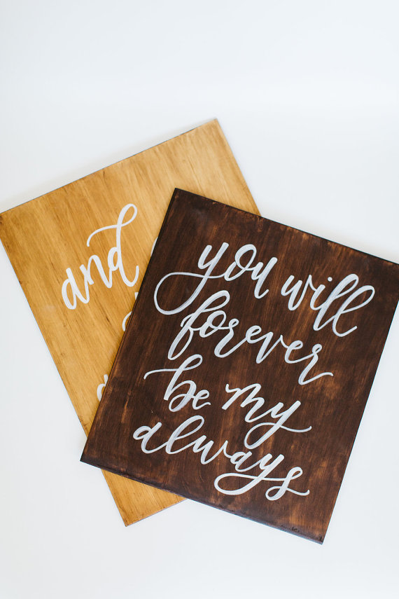 Custom Wooden Wedding Signs