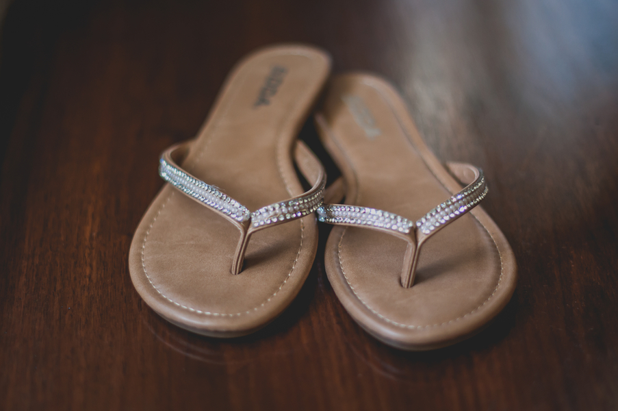 Bridal Sandals - A Forest Wedding Ceremony - Melissa Cervantes Photography