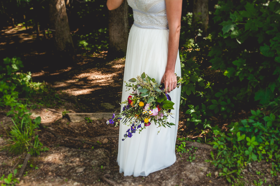 Wild Flower Bouquet - A Forest Wedding Ceremony - Melissa Cervantes Photography