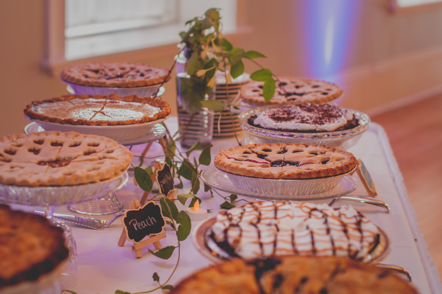 Wedding Pie Bar - The Loft on Jefferson Wedding, Iowa Wedding Venue - Melissa Cervantes Photography