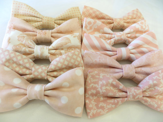 Blush Light Pink Mix and Match Bow Ties - Unique Groom + Groomsman Bow Ties