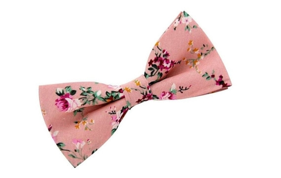 Pink Floral Bow Tie - http://www.awin1.com/cread.php?awinmid=6220&awinaffid=228501&clickref=TOB&p=https%3A%2F%2Fwww.etsy.com%2Flisting%2F491093236%2Fpink-floral-bowtie-mens-wedding-tie%3Fga_order%3Dmost_relevant%26ga_search_type%3Dall%26ga_view_type%3Dgallery%26ga_search_query%3D%26ref%3Dsr_gallery_17Unique Groom + Groomsman Bow Ties