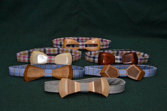 Wooden Bow Tie - Unique Groom + Groomsman Bow Ties